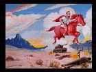 The Red Horse Rider, War