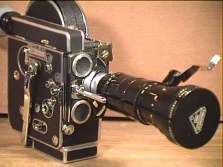 with P. Angenieux 120mm Telephoto Zoom Lens