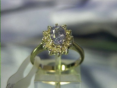 18K Gold Tanzanite Diamond Ring